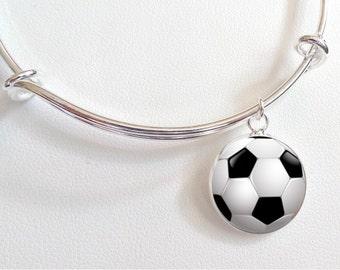 Soccer Ball Charm - Soccer Charm Necklace - Sterling Silver Plated Soccer Charm Bracelet