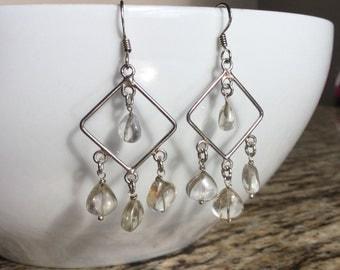 """Quartz Chandelier Earrings 2"""""""