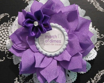 SALE!! March of Dimes Double Flower Headbands/Clips/Barrettes