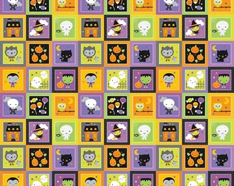 Halloween Sale  > Ghouls Panel GLOW in the  DARK by Doodlebug Designs from Riley Blake Designs > Ghouls and Goodies < Ghosts trick or treat