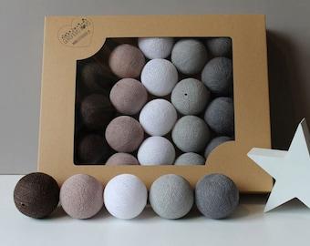 Cotton Balls Chestnut 35 items