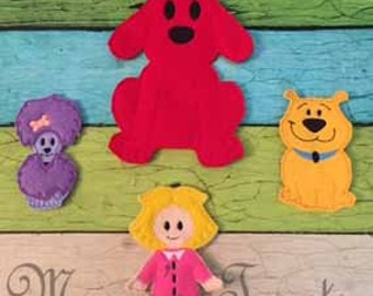 Set of 4 Finger Puppets - Inspired by children's show and book