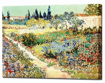 Van Gogh Garden at Arles Canvas Wall Art Print Picture Vincent Framed Ready to Hang Wall Decor