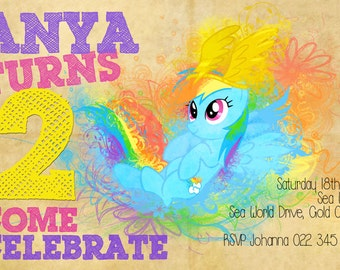 My Little Pony Rainbow Dash Printable Digital Invite