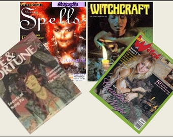 4 Miniature  'WITCH'  Halloween  Magazines  -  Dollhouse 1:6th  1/12th   1/24th   1/48th   scale IGMA