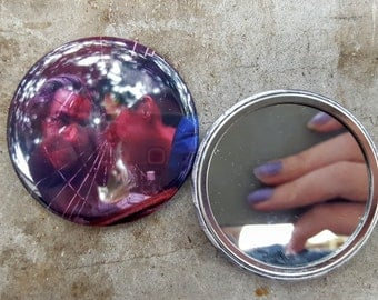 Twin Peaks Bob and Special Agent Dale Cooper 90s TV 2.25 inch 58MM purse pocket hand button mirror