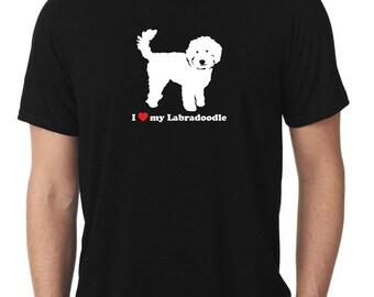 I Love My Labradoodle T-Shirt v2 doodle T1151