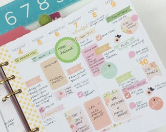 personal weekly foldout planner insert