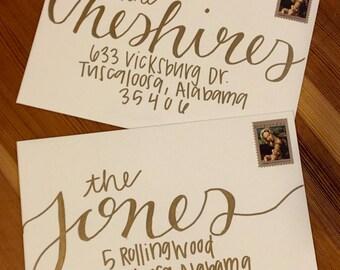 Custom Hand Lettering Envelope Calligraphy Addressing