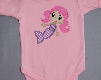 Girl's Mermaid Short Sleeve Onesie