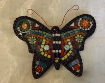 Gorgeous Hand Crafted Small Mosaic Butterfly - SALE!!