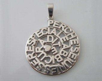 Customizable Silver Pendant
