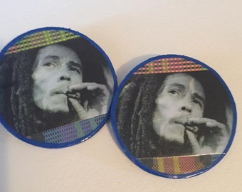 Bob Marley Post Earrings