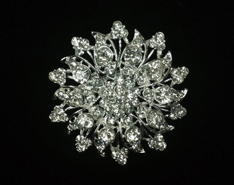 Rhinestone Brooch / Bridal Brooch / Crystal Brooch Component