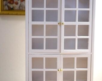 Dollhouse kitchen wood cabinet dolls house multipurpose storage 1 12th scale miniature furniture