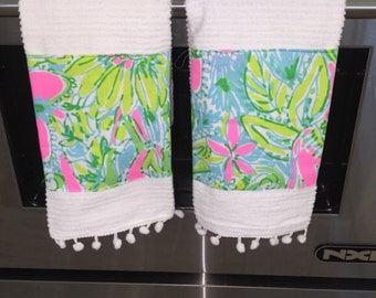 Lilly Pulitzer Fabric Hand Towel Set
