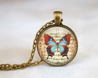 Vintage Butterfly Handmade Pendant Necklace