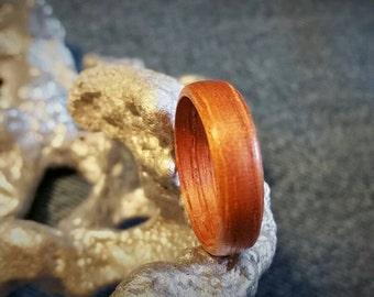 Cedar Bent Wood Ring.  SIZES: 6 6.5 7 8 8.5 9.5 10 11 11.5 12 13