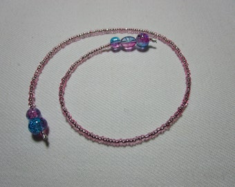Seed bead bookmark - pink