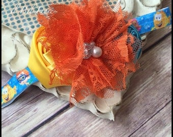 Bubble Guppies Headband, Flower Headband, Baby Infant Toddler Child Adult Headband, Photo Prop