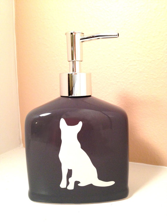 German shepherd pump ceramic soap dispenser animal dog pet for German made bathroom accessories