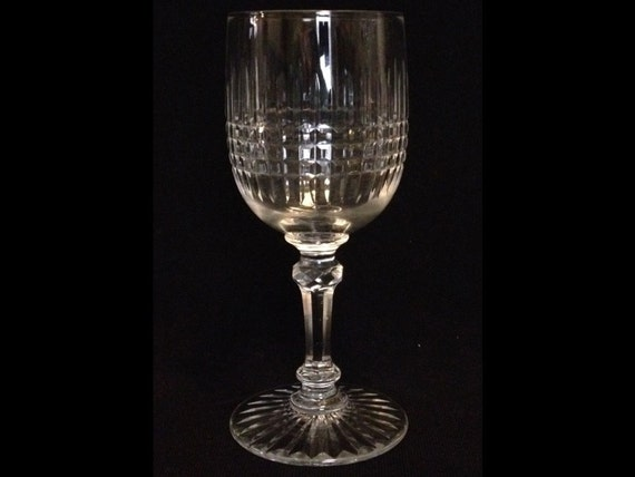 "FREE SHIPPING-Exquisite-BACCARAT, Pattern Colmar-4 5/8"" Tall-Port/Sherry-Dessert-Wine-Crystal-Glass"