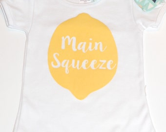Kids Lemon shirt, Main Squeeze Kids Shirt,