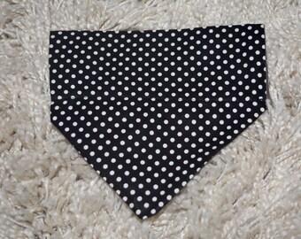 Black and white dog slip bandana