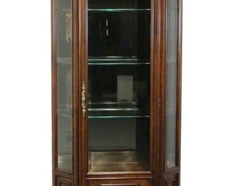 """CENTURY FURNITURE Chardeau Louis XVI French 34"""" Lighted Display Cabinet"""