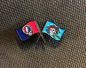 Dead flag hat pin