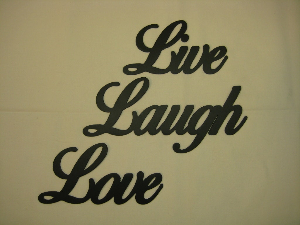 live laugh love metal wall word set. Black Bedroom Furniture Sets. Home Design Ideas