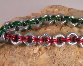 Hex Nut chainmaile bracelet.