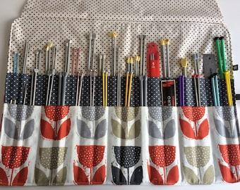 Knitting Needle Roll - Handmade