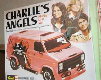 HOLD for J! Vintage (c.1977) Charlie's Angels branded van kit/model by Revell.  Original box, assembly instructions and decals! WOW!