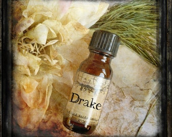 DRAKE- (Amber, Vanilla, Orange, Heather, Cypress, Cocoa, Lavender, Sandalwood, Tobacco, Clove, Coffee)Hand Blended Artisan Oil- Perfume