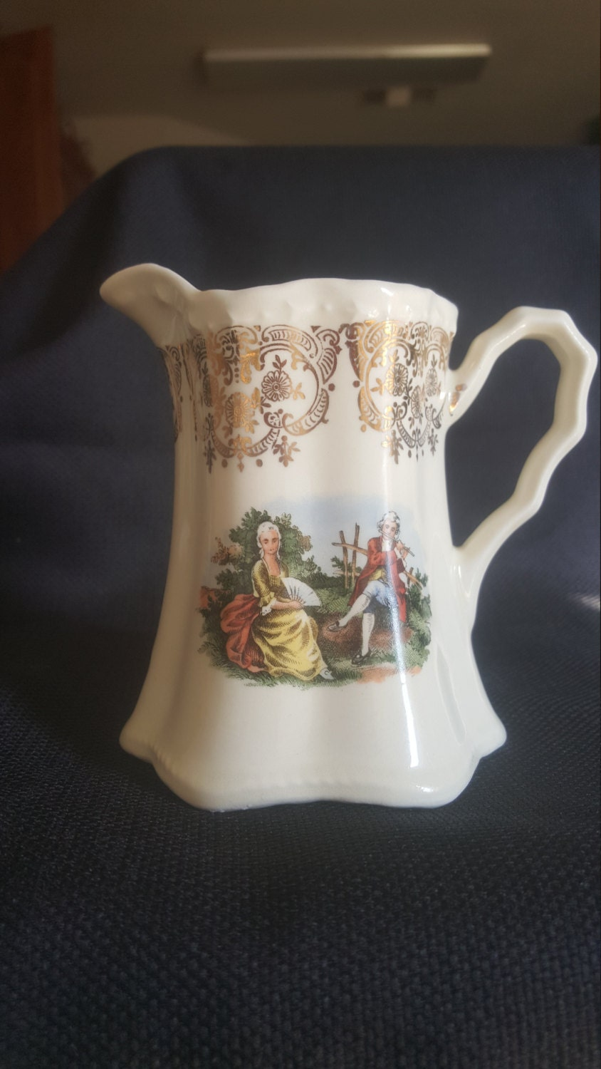 Vtg Crooksville China Co Colonial Couple By Maggiememorybox