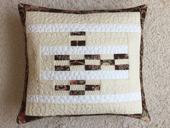 White Quilted Decorative Pillows : Items similar to Quilted throw pillow - yellow and white pillow - quilted pillow cover - quilted ...