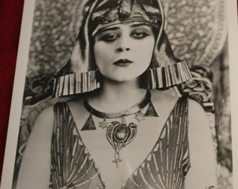 """Head Shot of Theda Bara from the Original Negative.  From the Film """"Cleopatra"""", Silent Film Actress, 1917 Film, Hollywood"""