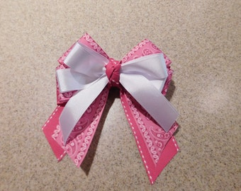 Country Chick Pink Paisley Hairbow