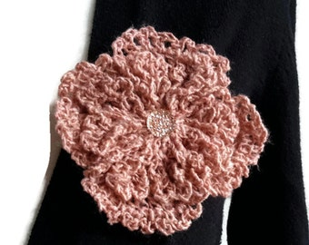 Crochet Flower Pin Brooch, Crochet Brooch, Flower Brooch, Crochet Pin, Women Gift, Gift for Her