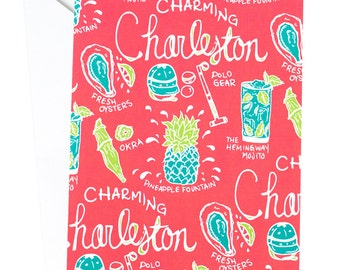 Charleston Card, Charleston Charm, Southern, Southern Charm, South Carolina, Travel Card, Adventure Card, Wanderlust