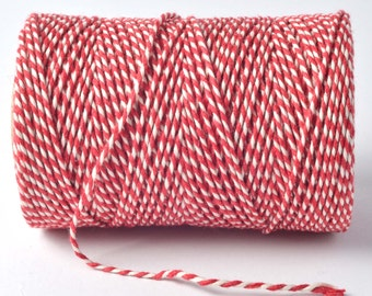 Red and White Everlasto Baker's Twine, Red Bakers Twine, Red Twine, Craft Supplies, Wedding Decorations, Twine