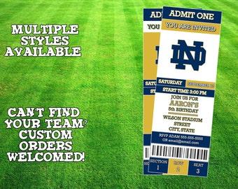 Notre Dame Fighting Irish Invitation