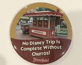 No Disney Trip Is Complete Without Churros! Celebration Button
