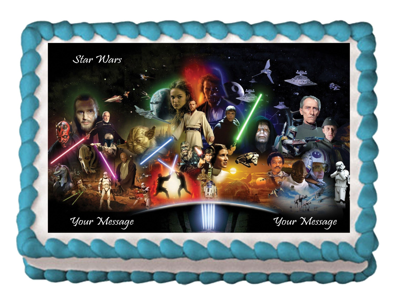 Star Wars Cake Topper Star Wars Birthday Party Star Wars