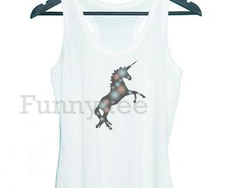 Unicorn galaxy tank top horse animal **racerback tank top**men women tank top size S M L XL