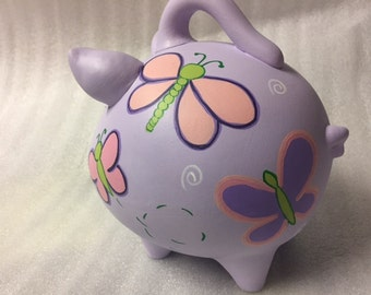 Piggy Bank: Fairy Tale Butterflies