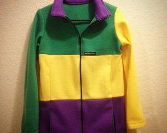 Fleece Mardi Gras Zip up Jacket