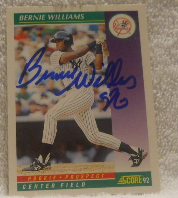 Sale Bernie Williams Rookie Yankees By Rjandbjcollectibles