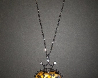 Leopard Print Crowned Heart